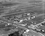 Barnes Circus, headquarters & zoo, aerial view