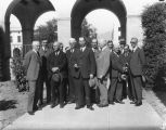 Governor C.C. Young with faculty members