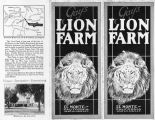 Pamphlet of Gay's Lion Farm (cover and backside)