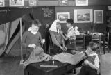 Boys sewing, Madison School