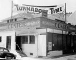 Banner announcing Turnabout Time at Hollywood Center Theatre, where the Turnabouters held a summer...