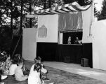 A children's puppet show in the mountains at Idyllwild.
