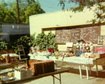 Yard sale of puppets and Turnabout Theatre memorabilia at the Turnabouters' home at 2109 Canyon...