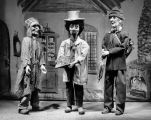 Three marionettes created by Harry Burnett for puppeteer Howard Mitchell of Whittier, California.
