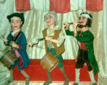 "Three ""76"" puppets made by Harry Burnett and sold to Howard Mitchell, puppeteer."