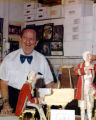 Harry Burnett with his Haydn Trio puppets.