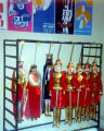Marionettes hanging in the Charleville Museum in France, seen by the Turnabouters while travelling...
