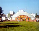 Olympia Circus tent in Arlesheim, Switzerland, as seen by the Turnabouters on vacation there.