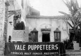 Richard Brandon in costume outside Teatro Torito, the Yale Puppeteers' theater on Olvera Street,...