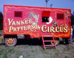 A circus wagon of Yankee Patterson Circus, visited by Richard Brandon.