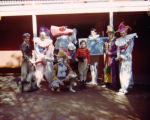 Cast of Tommy Turnabout's Circus in the patio of Turnabout Theatre.