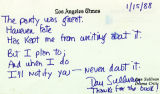 A letter in poetry form from Dan Sullivan, Drama Critic of the Los Angeles Times, thanking The...