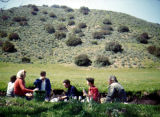 Turnabouters on a picnic in the hills.  Included are:  Elsa Lanchester, Richard Brandon, Harry...