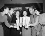 Turnabouters Dorothy Neumann, Harry Burnett, Elsa Lanchester, Frances Osborne, Forman Brown and...