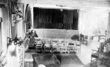 Interior view of the summer theater in Bethlehem, New Hampshire, where the Yale Puppeteers...