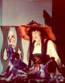 Puppet Oliver J. Gullible and puppeteer Harry Burnett as Miss Lily Putia.