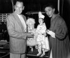 Turnabout Theatre performer Dorothy Neumann and a man with two puppet skaters from...