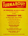 Flyer announcing a return limited engagement for the Turnabouters at Hollywood Center Theatre.