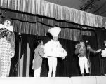 The Dancing Birthday Cake and other cast members performing at Tommy Turnabout's Circus.