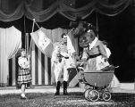 Hepzibah Hippo does her washing at Tommy Turnabout's Circus, assisted by children from the...