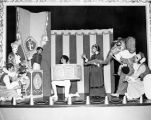 The cast of Tommy Turnabout's Circus performing on stage at Turnabout Theatre.