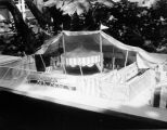Model of Tommy Turnabout's Circus, a tent circus at Farmers Market.
