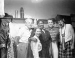 Partial cast of Tommy Turnabout's Circus backstage.
