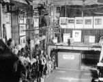 Interior view of the 40th Street New York theater of the Yale Puppeteers, showing puppets and...