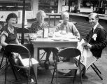 Yale Puppeteer Richard Brandon having coffee at Farmers Market with his parents, Mr. and Mrs....