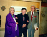Dorothy Neumann, Harry Burnett and Forman Brown arriving at someone's house in their retirement...