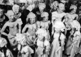 Group of puppets in Turnabout Theatre workshop in 1947.