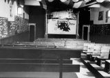 Interior view of the Yale Puppeteers' New York theater on 46th Street.