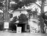 Exterior view of the Filmarte Theater in Carmel, California, site of a Yale Puppeteers'...