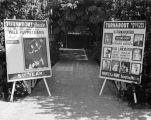 Billboards at Turnabout Theatre in 1945.