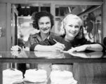 Two women working in the bakery at Farmers Market in 1946.