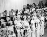 A group of Harry Burnett's puppets at Turnabout Theatre in 1947.