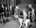 A scene created from puppets at Turnabout Theatre in 1947.